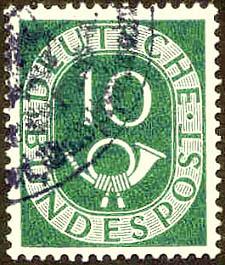 058 Deutsche Bundespost Wert 10 Deutsche Bundespost Wert 10
