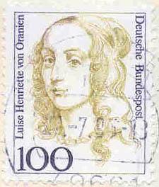 179 Deutsche Bundespost Wert 100 Luise Henriette Von Oranien
