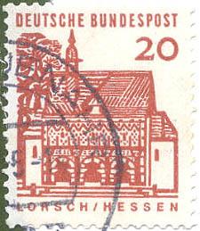 200 Deutsche Bundespost Wert 20 Pfennig Lorschhessen Deutsche