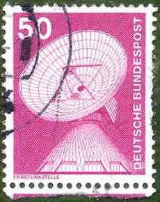 222 Deutsche Bundespost Wert 50 Erdfunkstelle Deutsche