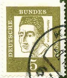 226 Deutsche Bundespost Wert 5 Albertus Magnus Deutsche