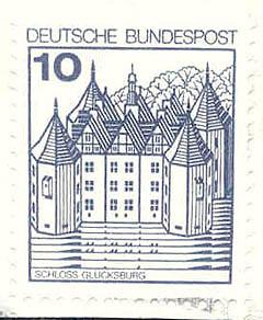 312 Deutsche Bundespost Wert 10 Pfennig Schloss Glücksburg