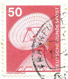 321 Deutsche Bundespost Wert 50 Pfennig Erdfunkstelle Deutsche