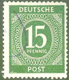 Deutsche Post, Wert 15