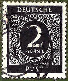 026 Deutsche Post Wert 2 Pfennig Deutsche Post Wert 2 Pfennig