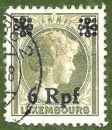 Luxembourg, Wert 6 Rpf