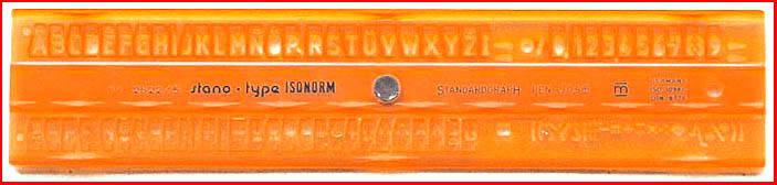 Standardgraph Schriftschablone