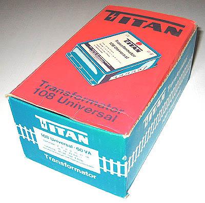 Titan Leerkarton für Universal-Trafo