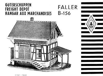 Faller H0 Güterschuppen B-156