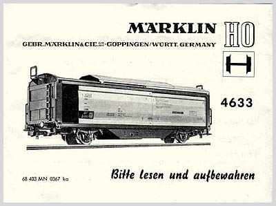 Betriebsanleitung für Tenderlokomotive 3000