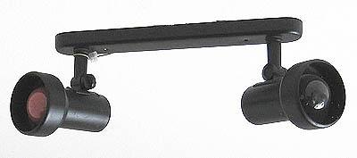 deckenlampe 10 spotlampe mit zwei lampenschirmen gebraucht kaufen bei. Black Bedroom Furniture Sets. Home Design Ideas