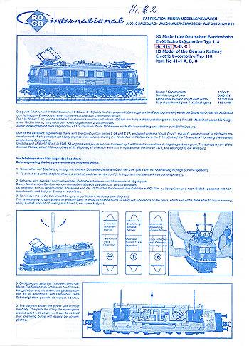 Roco H0 Betriebsanleitung für E-Loks 4141