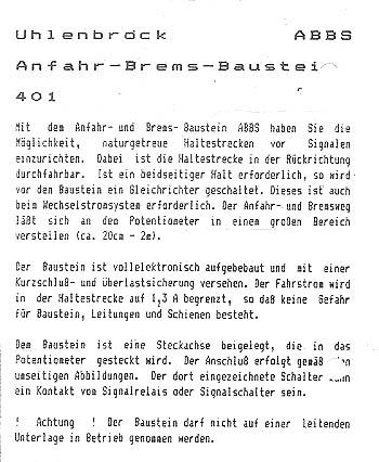 Uhlenbrock Anfahr-Brems-Baustein